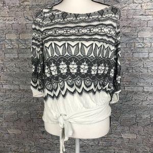 Deletta (Anthropologie) Medium Short Sleeve Blouse
